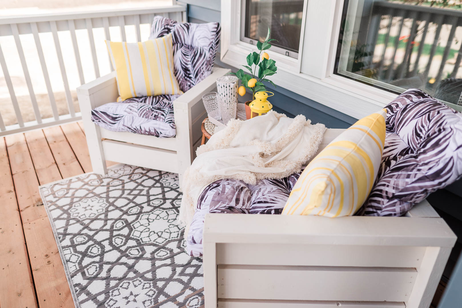 Cheerful Small Porch Makeover with DIY Outdoor Chairs Belvedere Orchards Brookfield-26