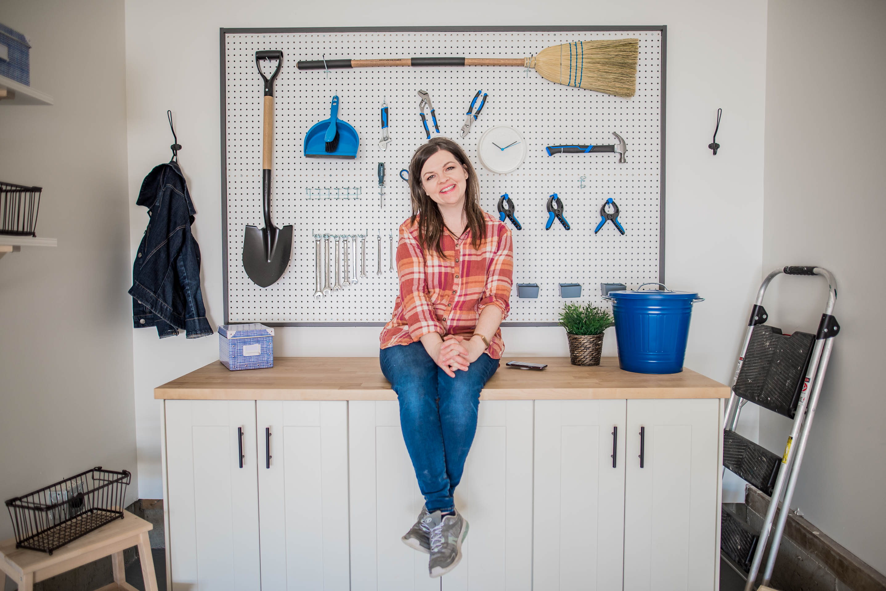 DIY Garage Work Bench and Framed Pegboard Brookfield Robson-11