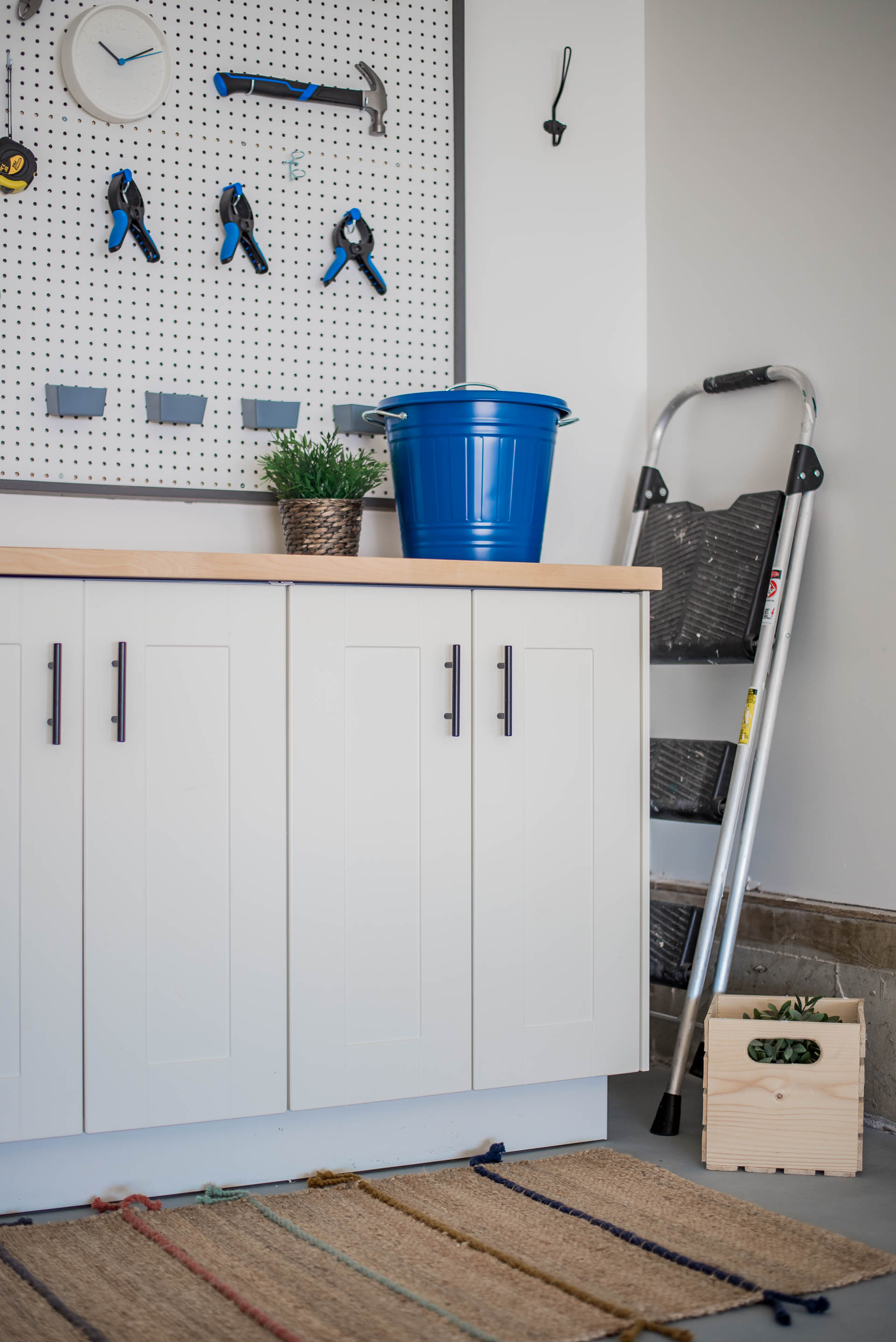 DIY Garage Work Bench and Framed Pegboard Brookfield Robson-25