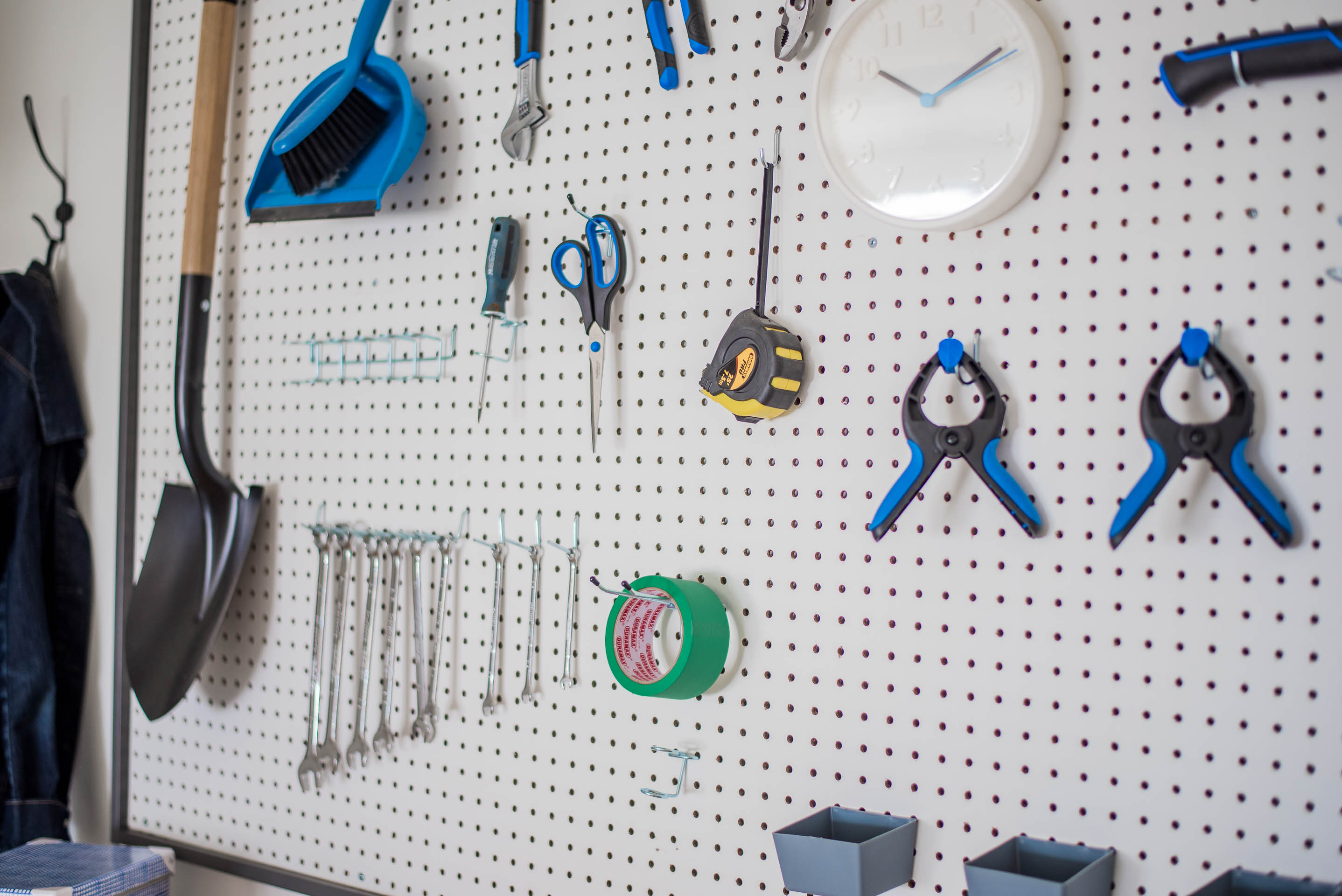 DIY Garage Work Bench and Framed Pegboard Brookfield Robson-29