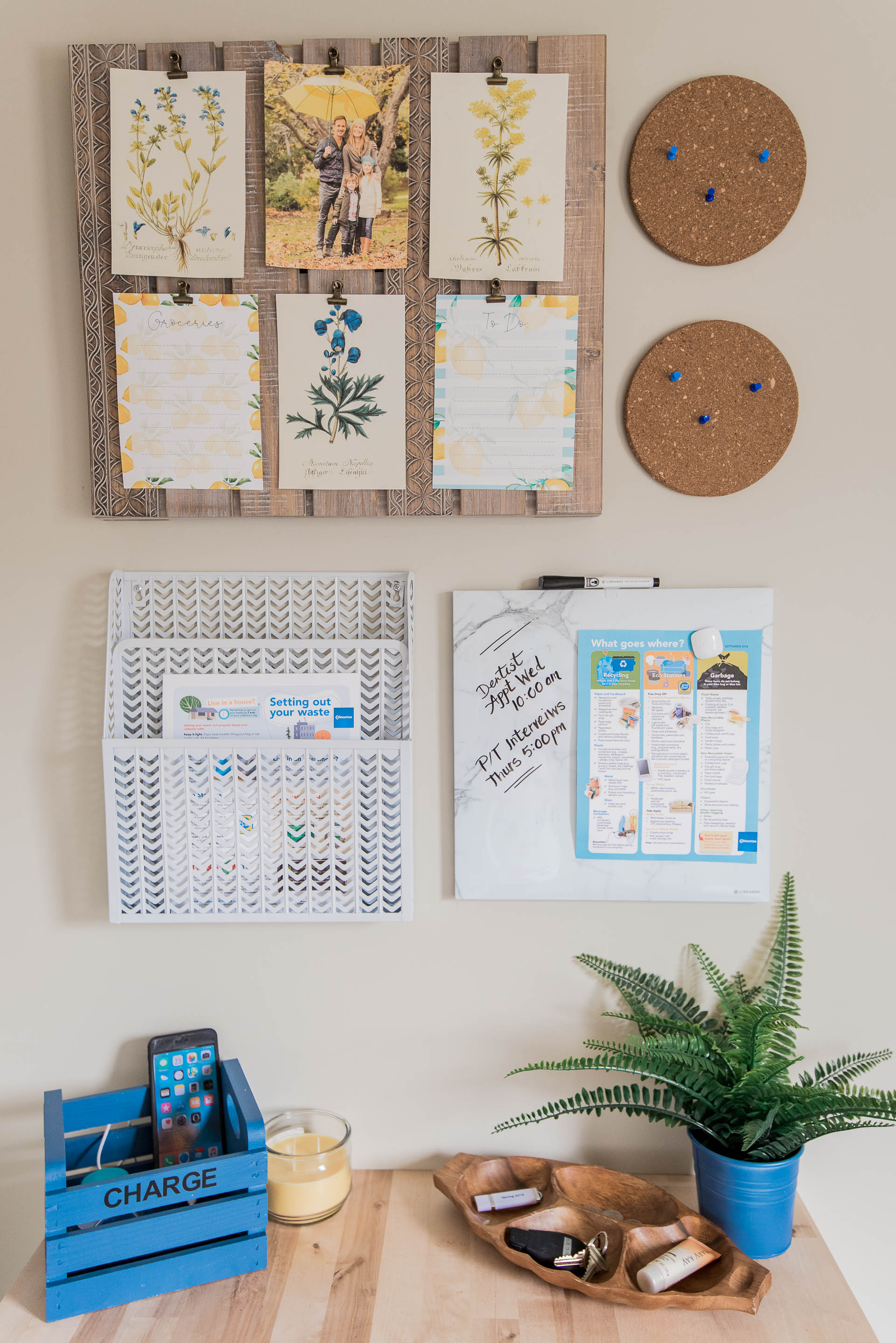 DIY Recycling Station and Family Command Center The DIY Mommy-15